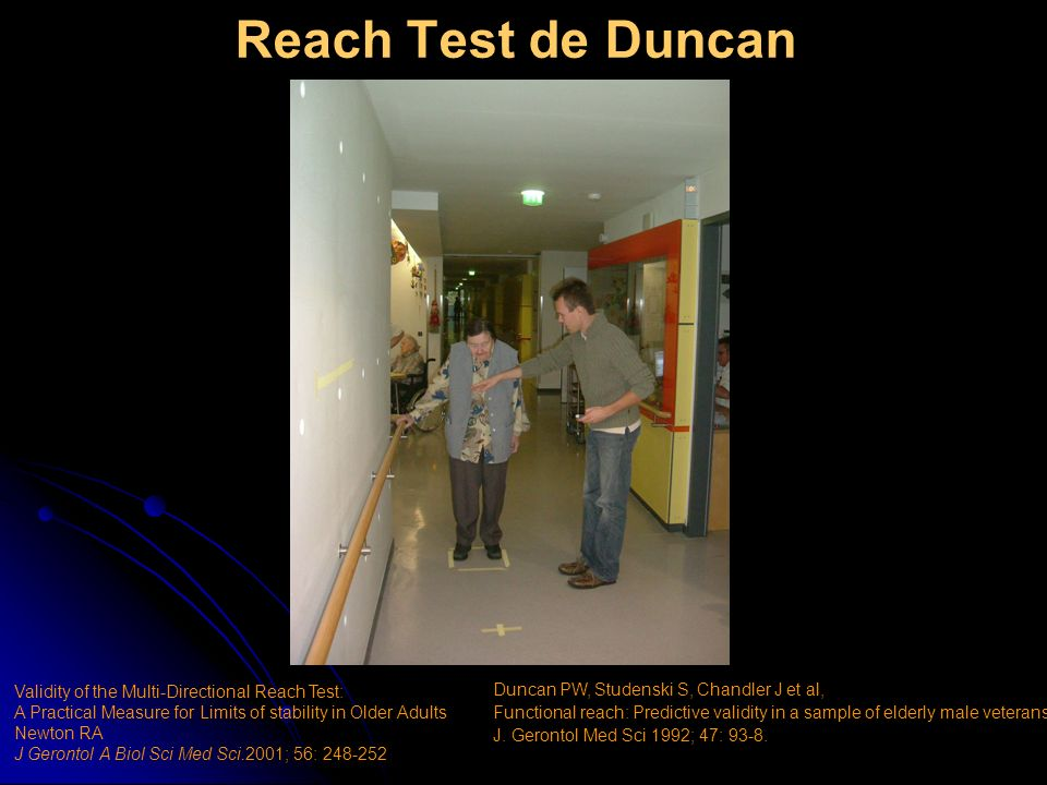Reach Test de Duncan Validity of the Multi-Directional Reach Test: