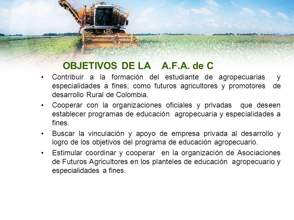 OBJETIVOS DE LA A.F.A. de C