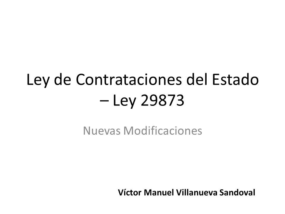 Ley de Contrataciones del Estado – Ley 29873