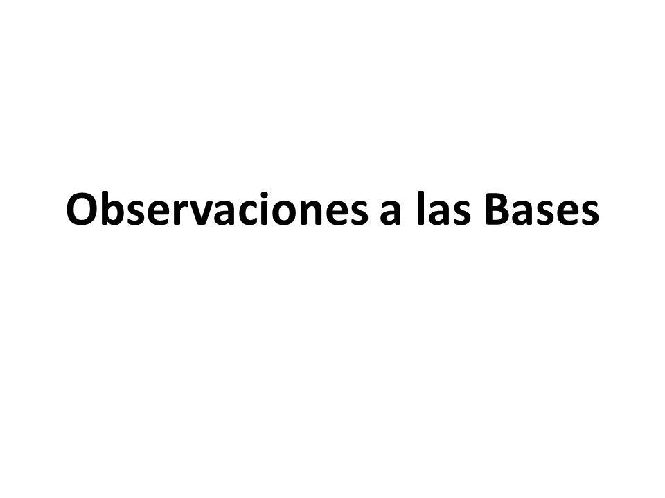 Observaciones a las Bases