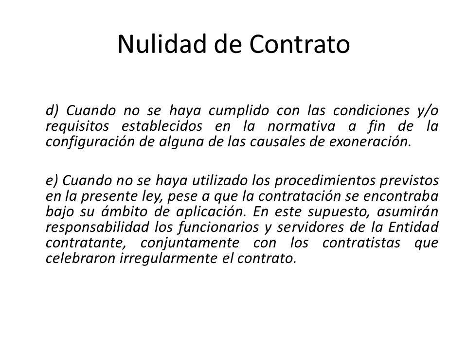 Nulidad de Contrato