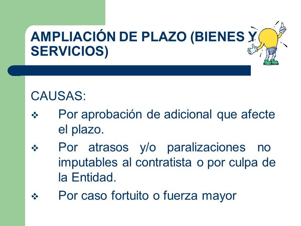 AMPLIACIÓN DE PLAZO (BIENES Y SERVICIOS)