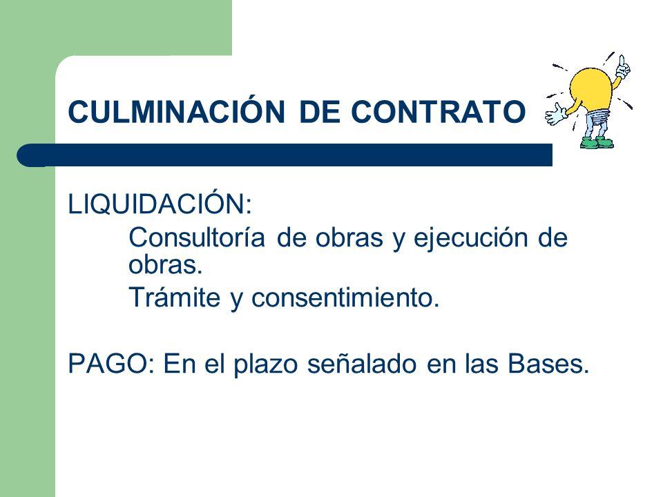CULMINACIÓN DE CONTRATO