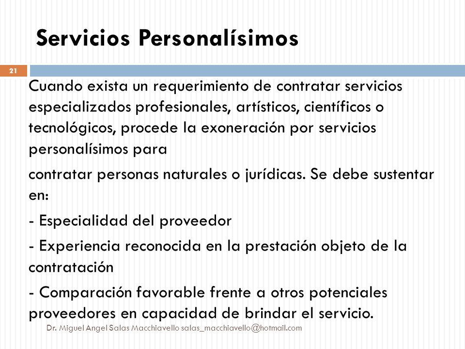 Servicios Personalísimos