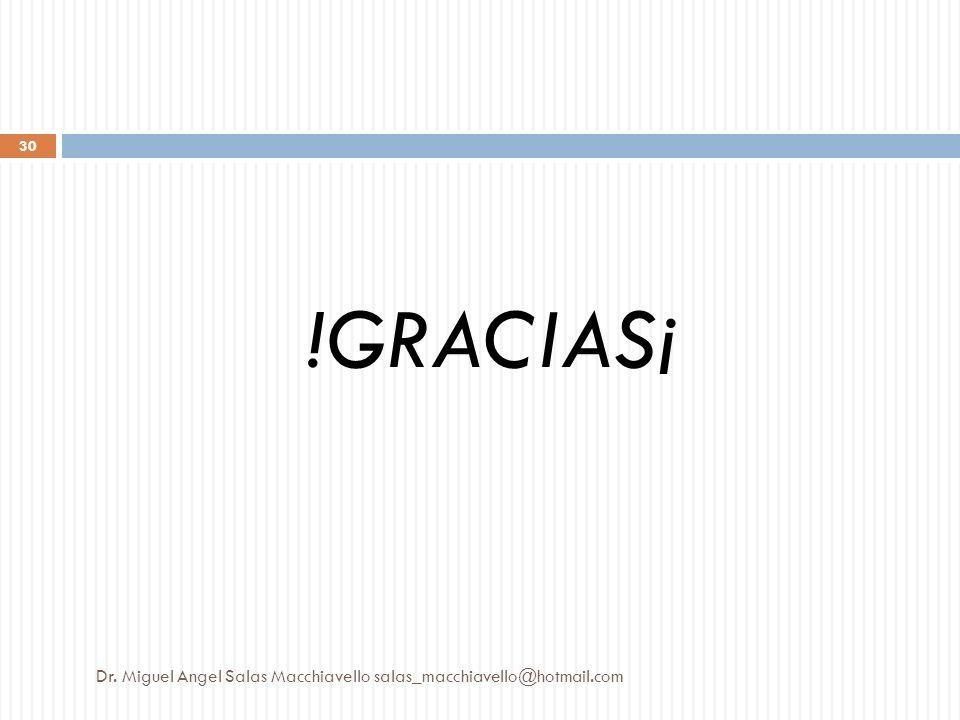 !GRACIAS¡ Dr. Miguel Angel Salas Macchiavello salas_macchiavello@hotmail.com