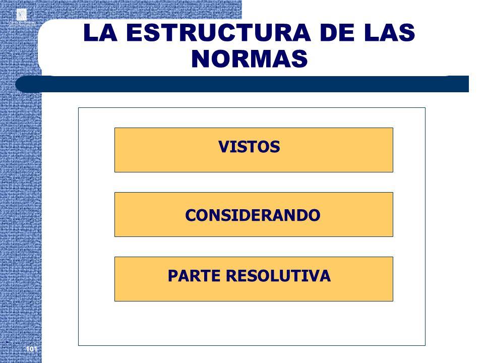 LA ESTRUCTURA DE LAS NORMAS