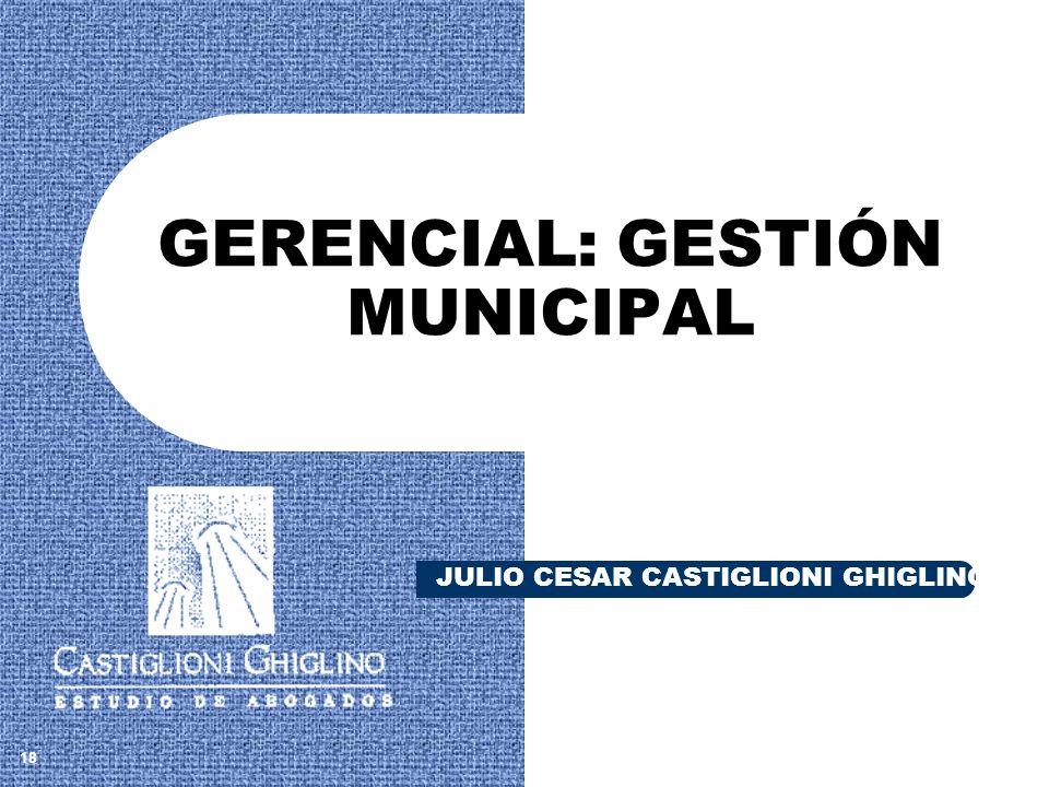 GERENCIAL: GESTIÓN MUNICIPAL