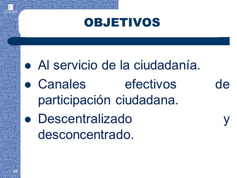 Al servicio de la ciudadanía.