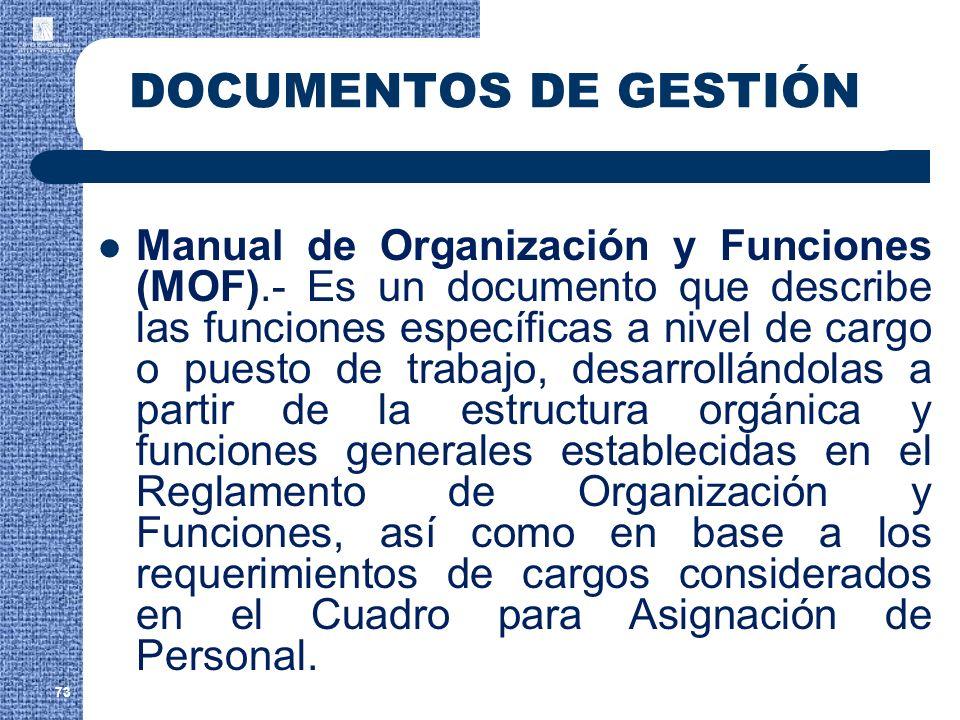 DOCUMENTOS DE GESTIÓN