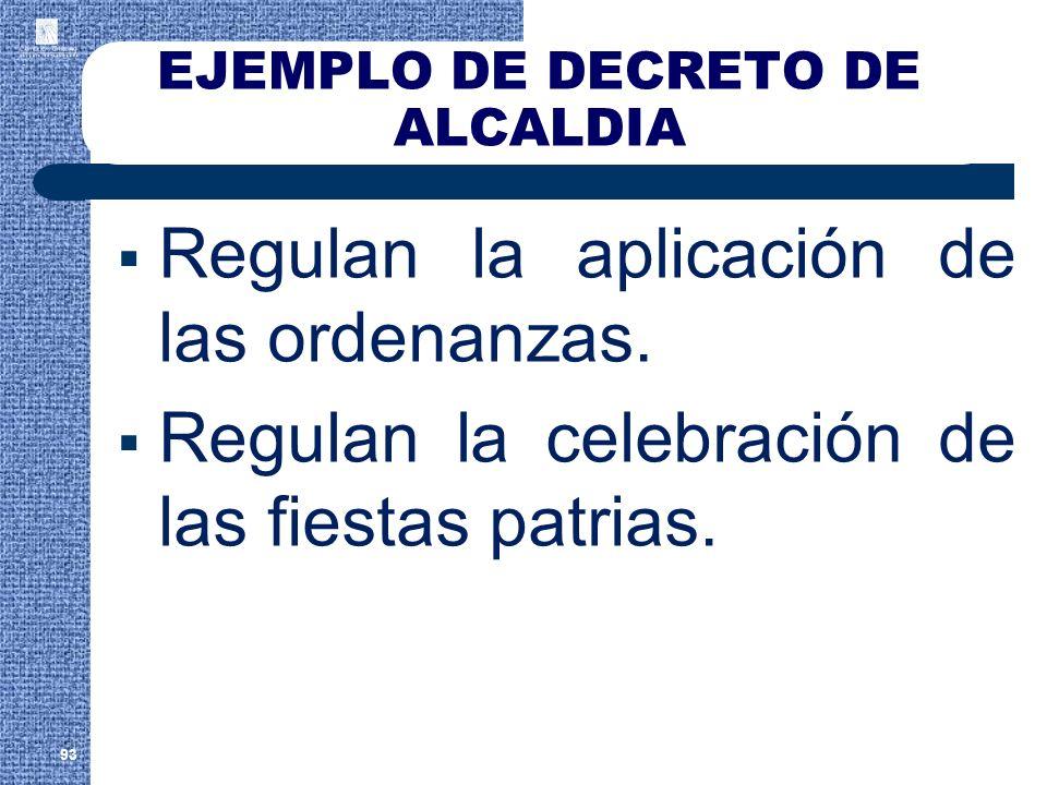 EJEMPLO DE DECRETO DE ALCALDIA