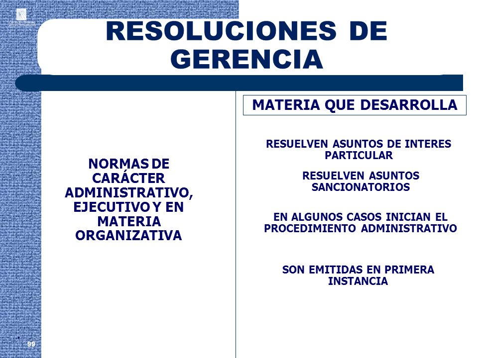 RESOLUCIONES DE GERENCIA