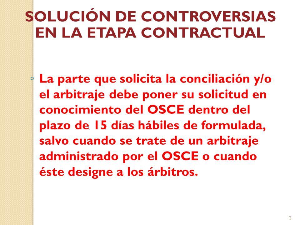 Solución de Controversias en la Etapa Contractual