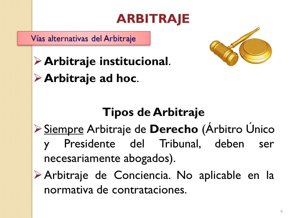 Vías alternativas del Arbitraje