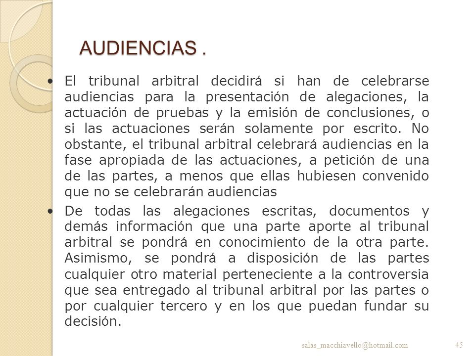 AUDIENCIAS .