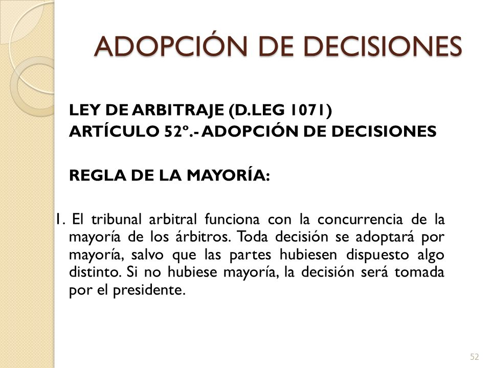 ADOPCIÓN DE DECISIONES