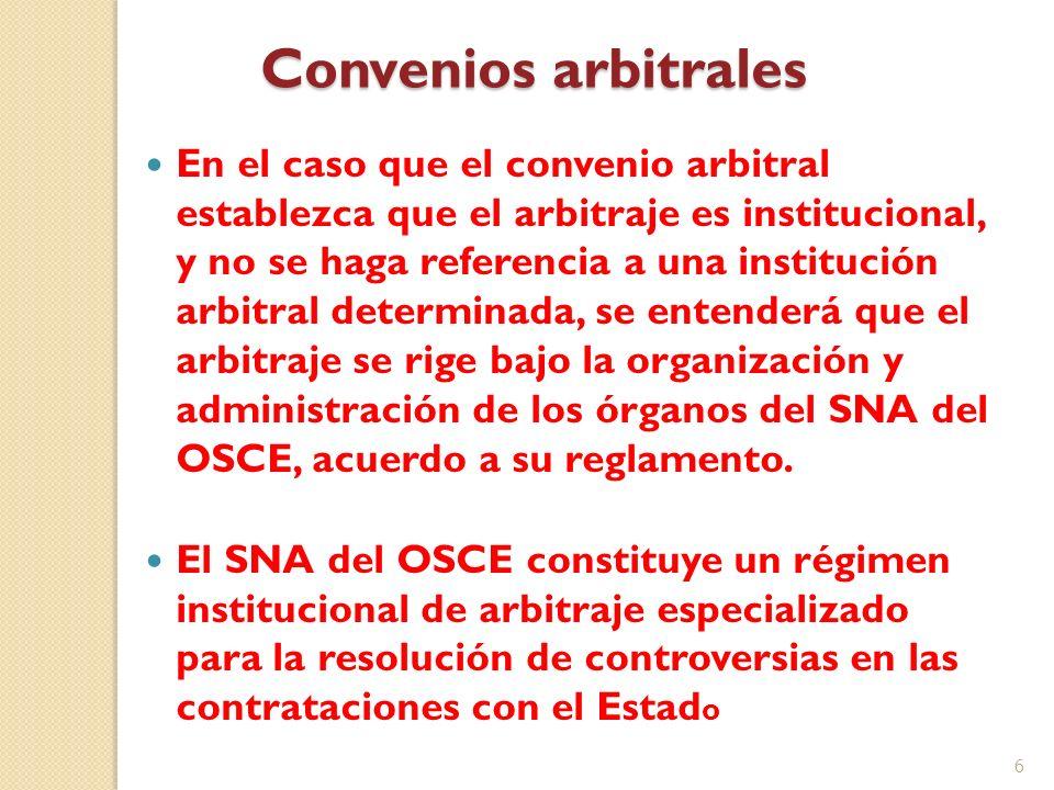 Convenios arbitrales
