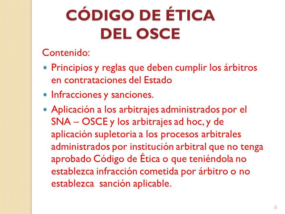 CÓDIGO DE ÉTICA DEL OSCE