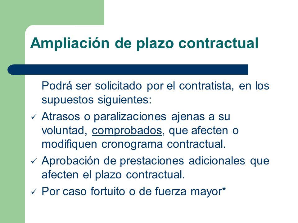 Ampliación de plazo contractual
