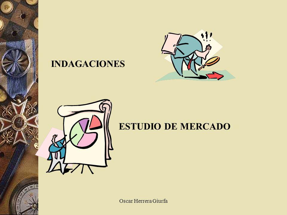 INDAGACIONES ESTUDIO DE MERCADO Oscar Herrera Giurfa