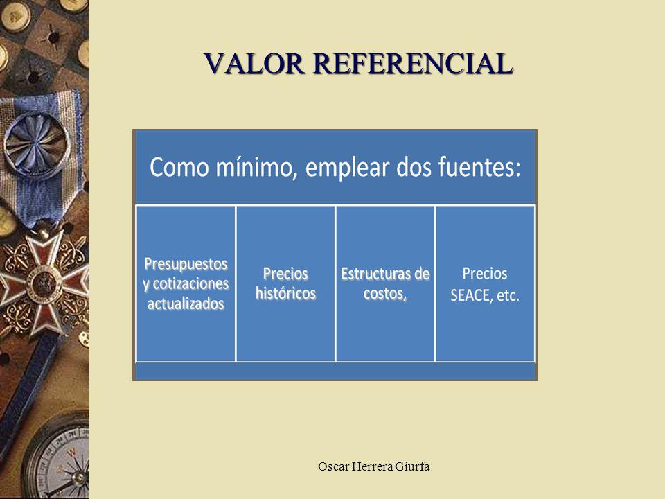 VALOR REFERENCIAL Oscar Herrera Giurfa