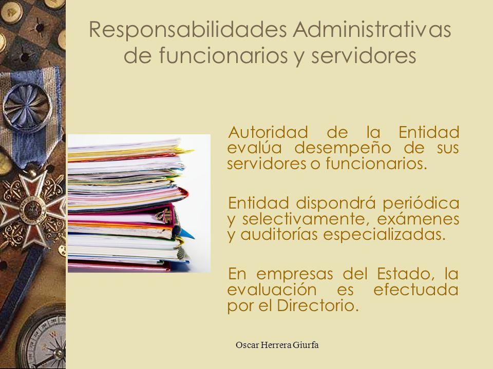 Responsabilidades Administrativas de funcionarios y servidores