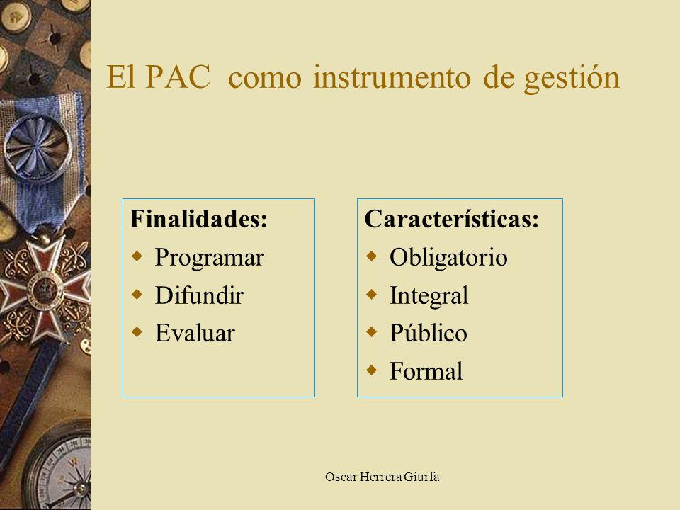 El PAC como instrumento de gestión