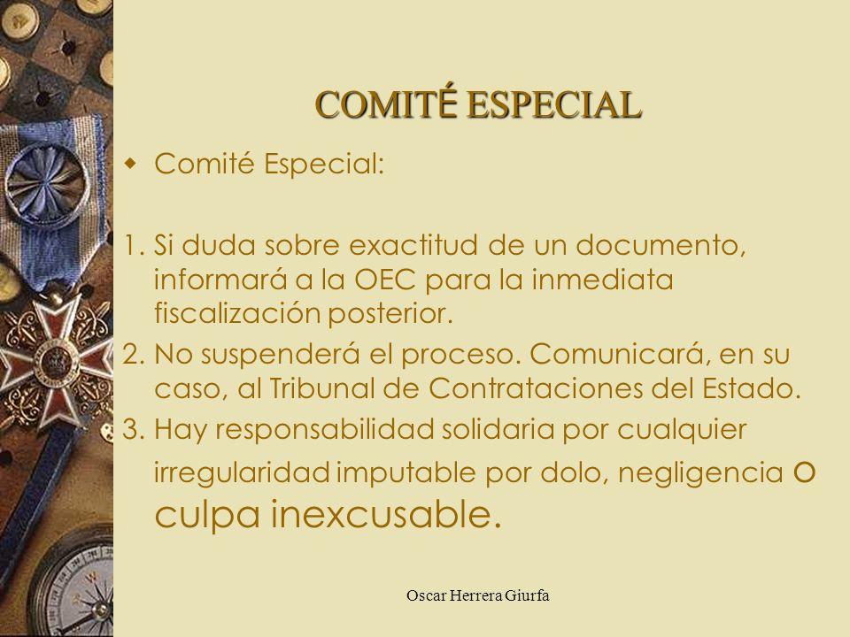 COMITÉ ESPECIAL Comité Especial: