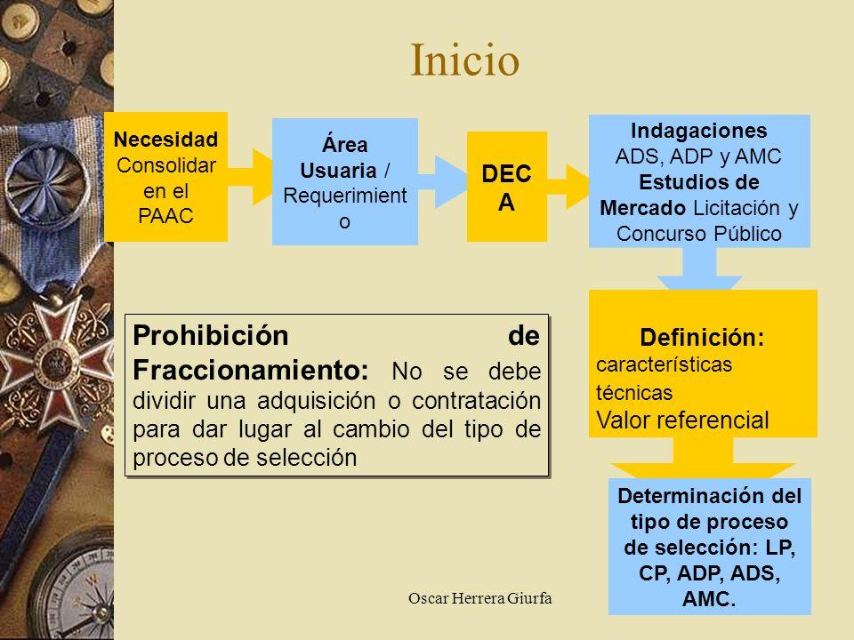 Determinación del tipo de proceso de selección: LP, CP, ADP, ADS, AMC.