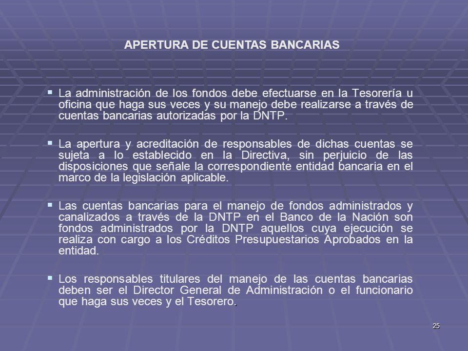 APERTURA DE CUENTAS BANCARIAS