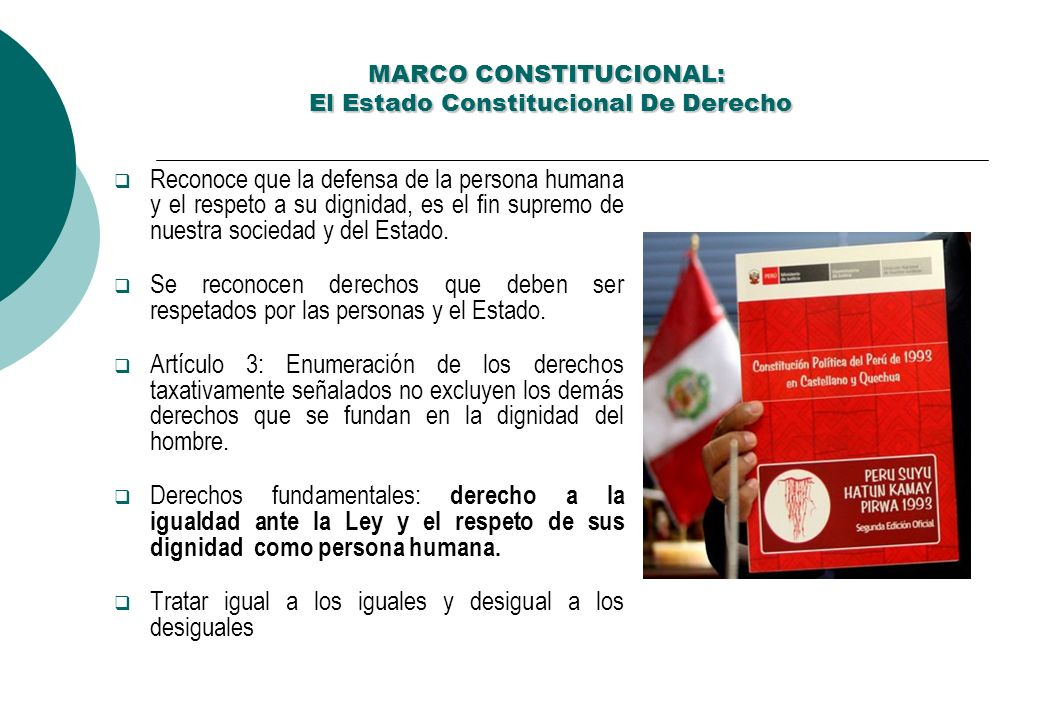 MARCO CONSTITUCIONAL: El Estado Constitucional De Derecho