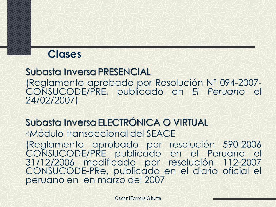 Clases Subasta Inversa PRESENCIAL