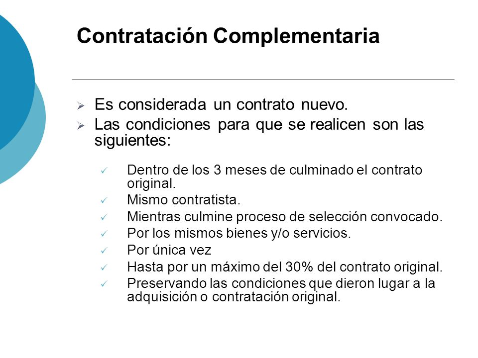 Contratación Complementaria