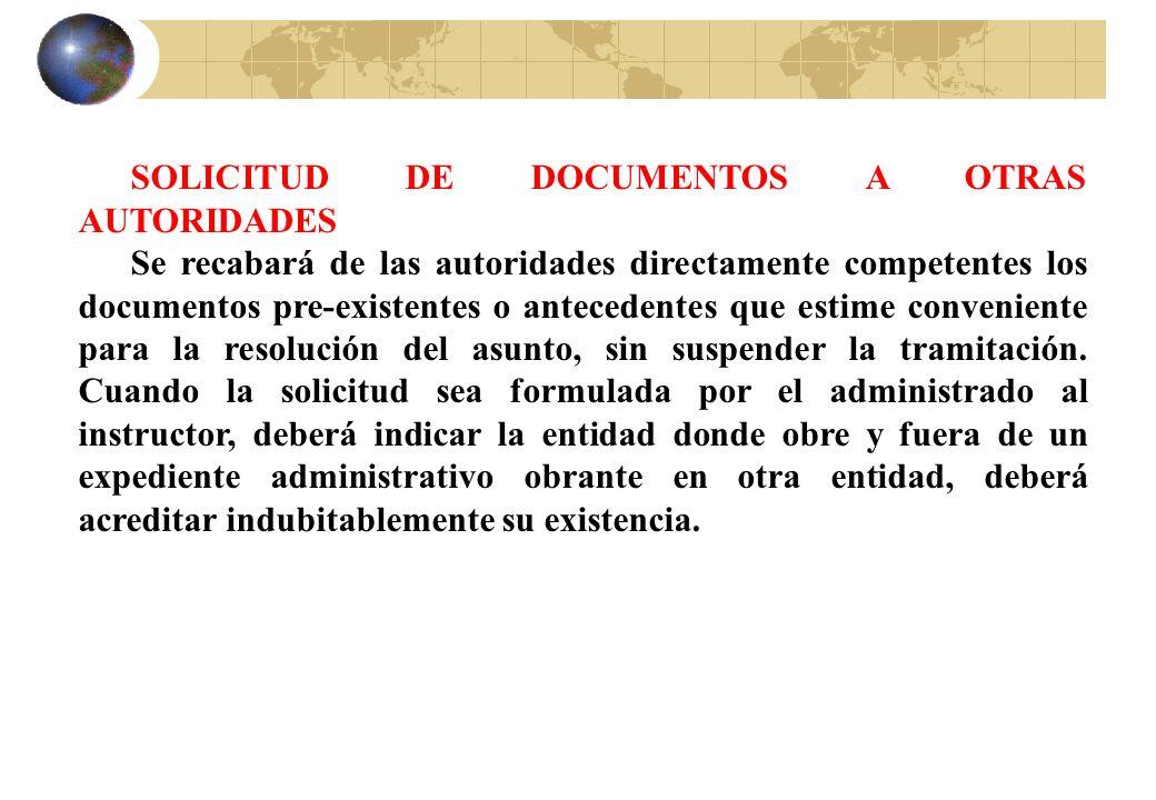 SOLICITUD DE DOCUMENTOS A OTRAS AUTORIDADES