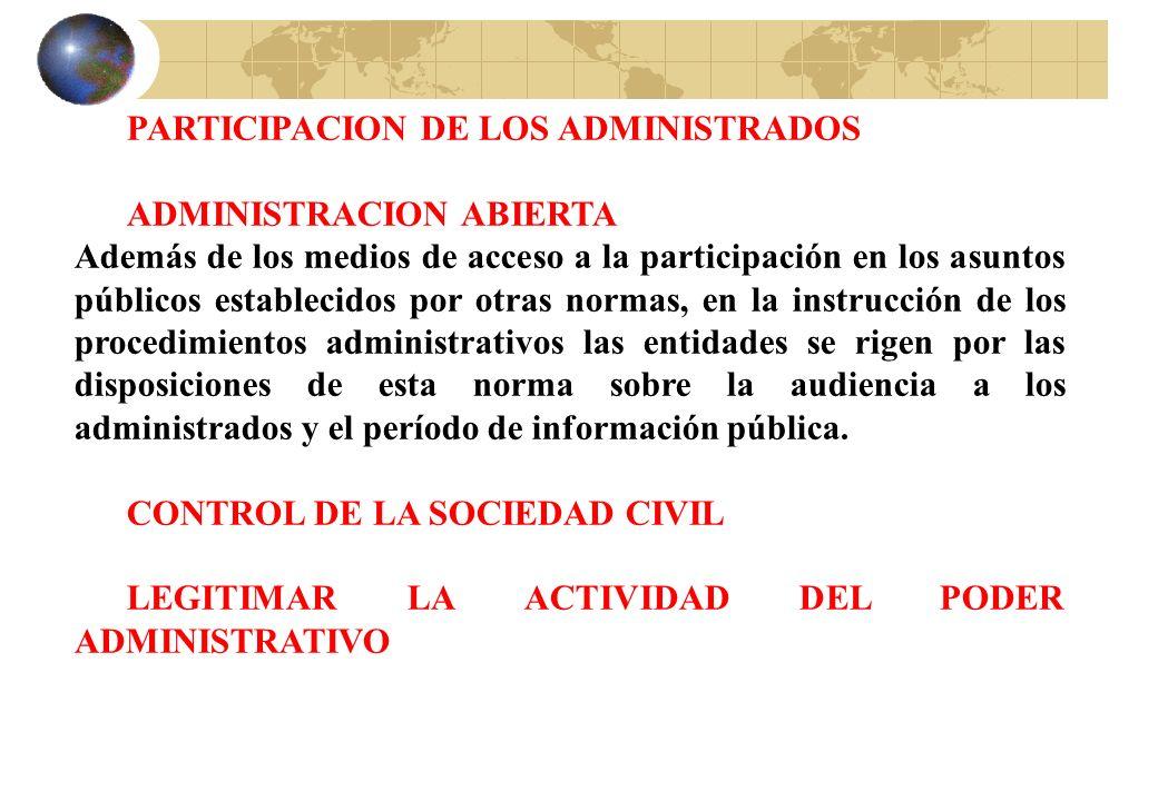 PARTICIPACION DE LOS ADMINISTRADOS