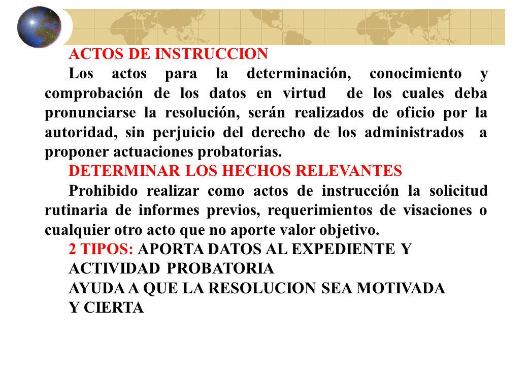 ACTOS DE INSTRUCCION