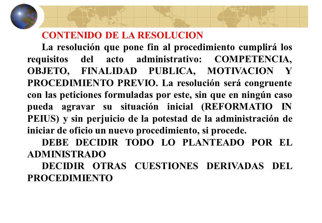CONTENIDO DE LA RESOLUCION