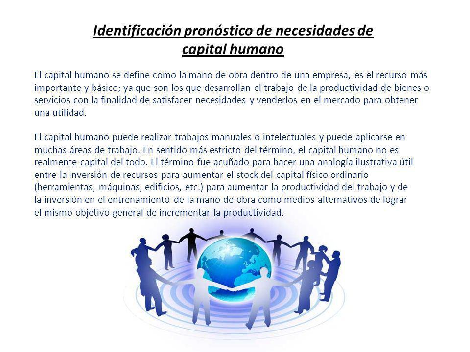 Identificación pronóstico de necesidades de capital humano