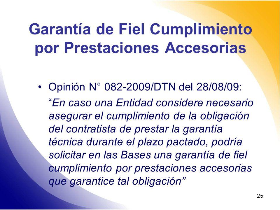 Garantía de Fiel Cumplimiento por Prestaciones Accesorias