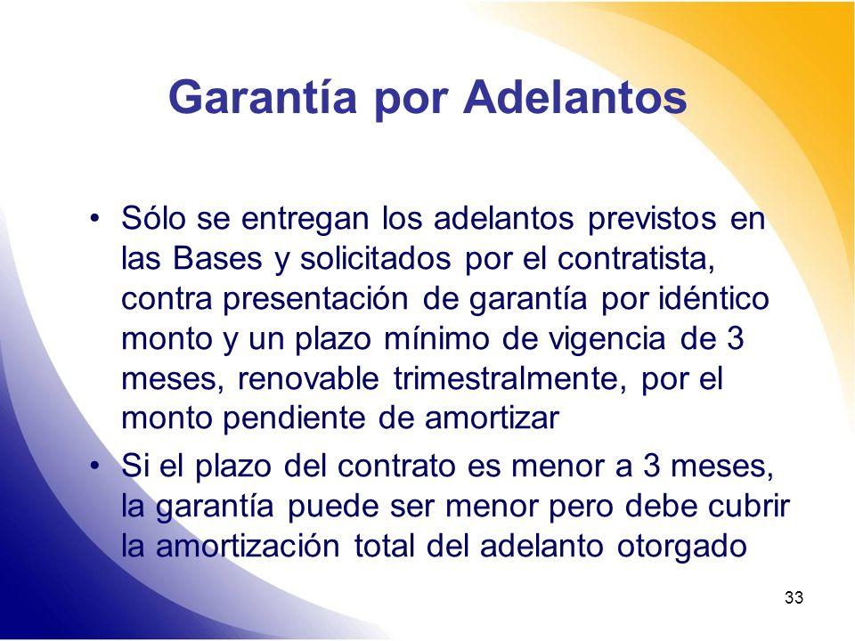 Garantía por Adelantos
