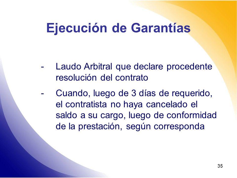 Ejecución de Garantías