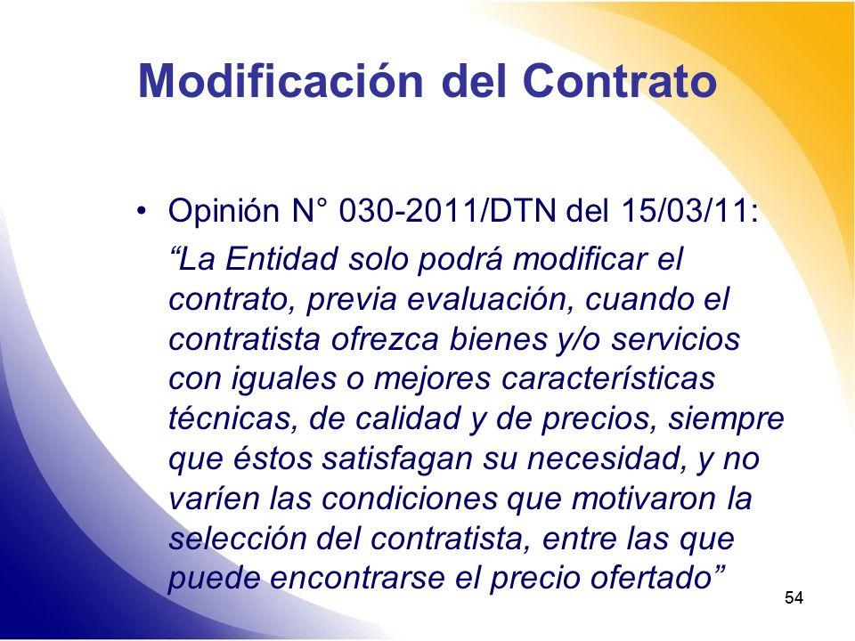 Modificación del Contrato