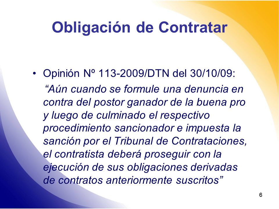 Obligación de Contratar