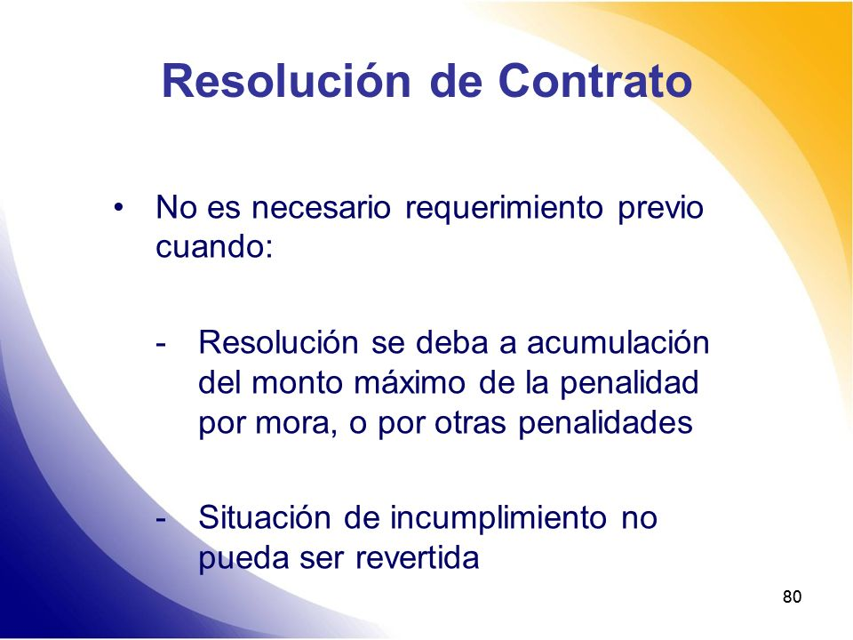 Resolución de Contrato