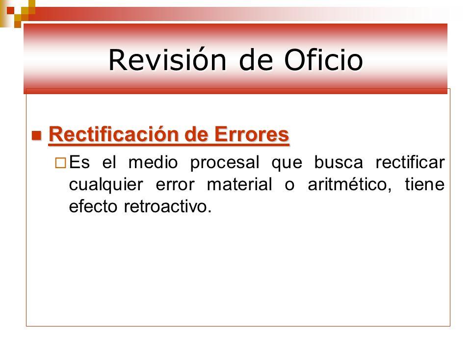 Revisión de Oficio Rectificación de Errores