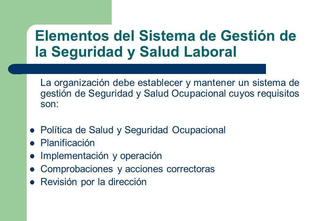 Elementos del Sistema de Gestión de la Seguridad y Salud Laboral