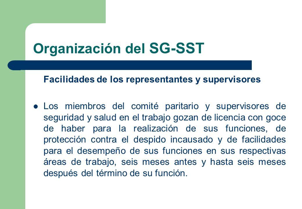 Organización del SG-SST