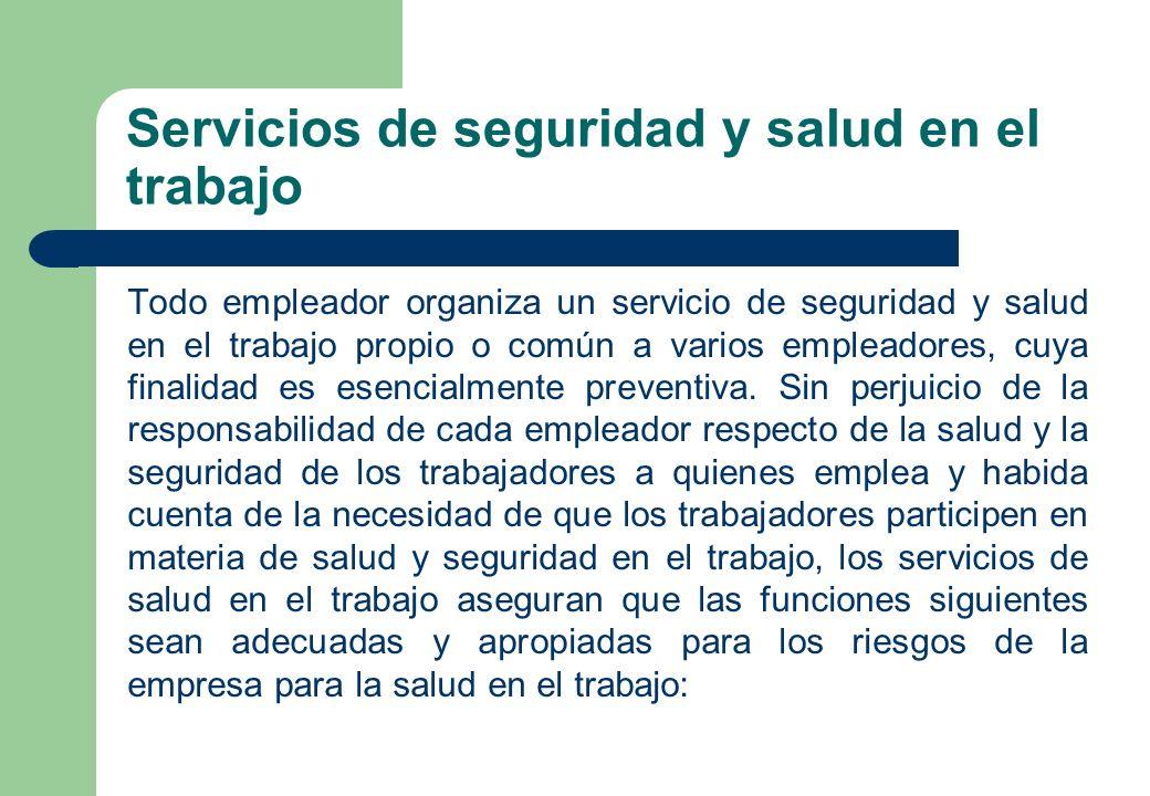 Servicios de seguridad y salud en el trabajo