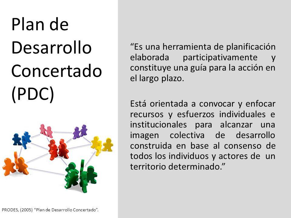 Plan de Desarrollo Concertado (PDC)