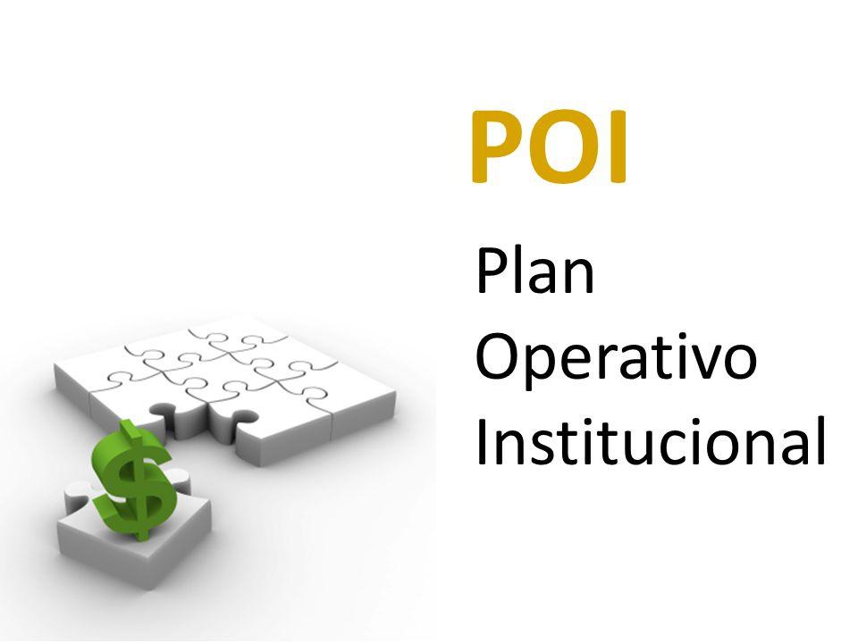 POI Plan Operativo Institucional