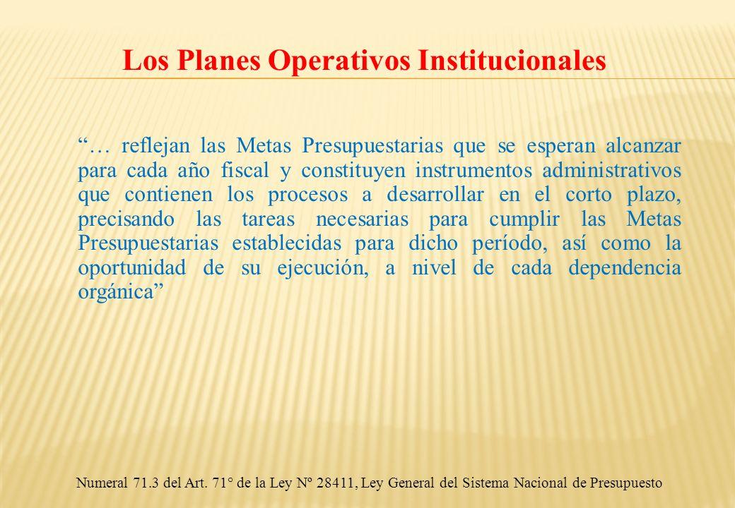 Los Planes Operativos Institucionales